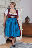 Bavarian girl in dirndl Thoroughbred. Busty and curvy bavarian girl in dirndl stock image