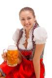 Bavarian girl isolated over white background Stock Image