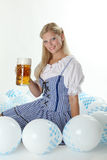 Bavarian Girl with Oktoberfest Beer Royalty Free Stock Photography
