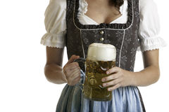 Bavarian Girl with Oktoberfest beer stein Stock Photo