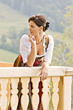 Bavarian Girl at prayer Stock Photo