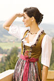 Bavarian Girl at prayer Stock Images