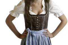 Bavarian girl wearing Oktoberfest Dirndl cloth Stock Photography