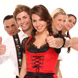 Bavarian group Stock Images