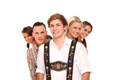 Bavarian group Royalty Free Stock Images