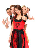 Bavarian group Royalty Free Stock Photography