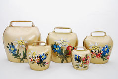 Bavarian handpainted Bells for cows and goats Royalty Free Stock Images