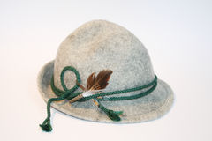 Bavarian hat. A bavarian kids hat, with a feather Royalty Free Stock Images
