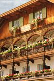 Bavarian house decorated. Konigssee. Germany Royalty Free Stock Photo
