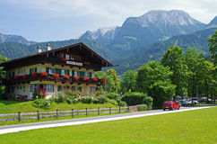 Bavarian house by Konigssee Stock Photos