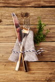Bavarian hut with fork and knive. For german cuisine concept Royalty Free Stock Images
