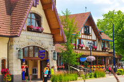 Bavarian Inn. FRANKENMUTH, MI - JUNE 28, 2014: The Bavarian Inn, one of the main restaurants and attractions in this Michigan town, has brought throngs of royalty free stock images
