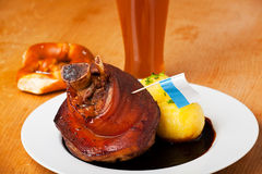 Bavarian knuckle of pork Stock Photo