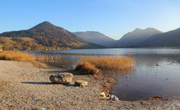 Bavarian lake schliersee in autumn Royalty Free Stock Photos