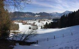 Bavarian lake. Lake Tegernsee in the Bavarian alps Stock Photo