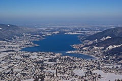 Bavarian lake in winter Royalty Free Stock Images