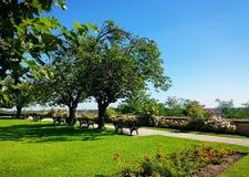 Bavarian landscape, beautiful park in summer Stock Image