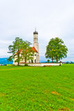 Bavarian landscape with a chapel Royalty Free Stock Images