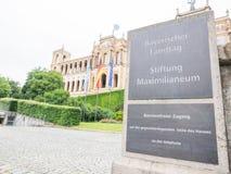 Bavarian Landtag sign Stock Image