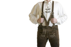 Bavarian Leather Trousers / Lederhose Stock Photos