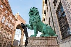 Bavarian lion at odeonsplatz,munich Royalty Free Stock Photos