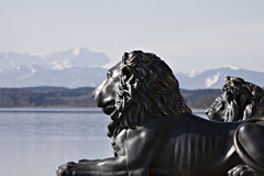 Bavarian lions Stock Photography
