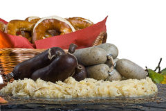 Bavarian Lunch. Some typical bavarian specialties but its eaten all over germany Stock Photo