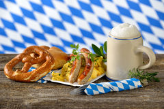 Bavarian lunch Stock Images