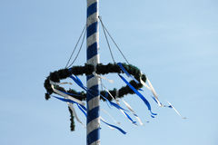 Bavarian Maibaum or Maypole Stock Photo