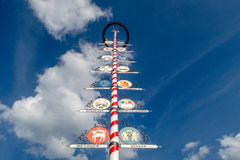 Bavarian Maibaum or Maypole Stock Photography