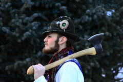 Bavarian man with axe Stock Image