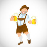 Bavarian man with a big glass of beer Royalty Free Stock Image