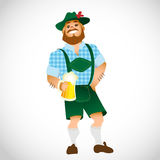 Bavarian man with a big glass of beer Royalty Free Stock Photos
