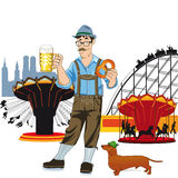 Bavarian man at Oktoberfest Royalty Free Stock Photography
