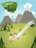 Bavarian man is singing Royalty Free Stock Image