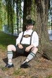 Bavarian man sleeping Stock Images