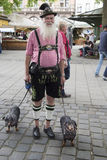 Bavarian Man with two dachshunds Stock Photography