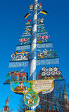 Bavarian Maypole , Viktualien Market, Munich. Stock Photos
