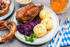 Bavarian meal Royalty Free Stock Image