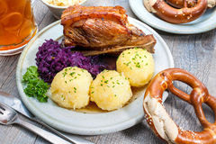 Bavarian meal Royalty Free Stock Photography