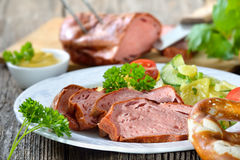 Bavarian meat loaf Royalty Free Stock Photos