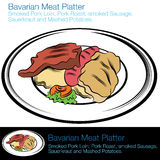 Bavarian Meat Platter Stock Photos