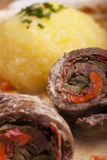 Bavarian meat roulade Stock Image