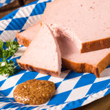 Bavarian meatloaf with sweetly senf Stock Photo