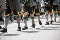 Bavarian men on folk festival Stock Photography