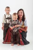 Bavarian mother in costume Royalty Free Stock Image