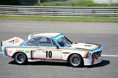 Bavarian Motor Works Touring Car. Monza circuit was the theatre of the Monza-Historic event by Peter Auto stock image