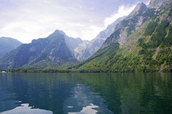 Bavarian mountain lake Stock Photography