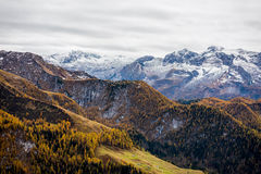 Bavarian mountains in the autumn. Hiking on the Bavarian mountains in the autumn is more then a visual pleasure, is a paradise Stock Photos