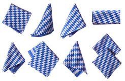 Bavarian napkins isolated Stock Photos